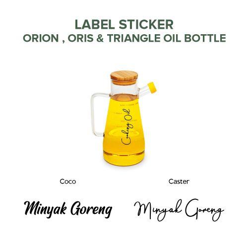 LABEL STICKER ORIS / ORION / TRIANGLE BOTTLE